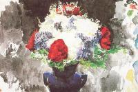 Цветы в синей вазе, 1887, Врубель