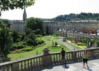 Парк в городе Бат (Англия)