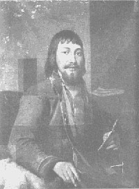 Портрет Билибина (промывка картины)