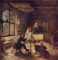 Мастерская художника (А. ван Остаде, 1663 г.)