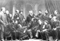И.И.Шишкин в группе членов Товарищества...1886