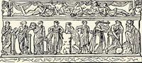 Девять муз (изображение на греческом саркофаге)