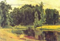 Пруд в старом парке. Этюд для одноименной картины 1898 г.