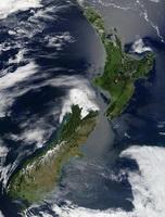 Новая Зеландия (вид из космоса)