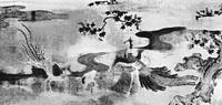 Павлин и птицы-фениксы (Кано Цунэнобу, ширма)