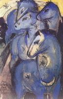 Башня синих коней (Ф. Марк, 1913 г.)