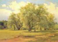 Ивы, освещенные солнцем.Конец 1860-х начало 1870-х