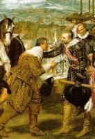 Сдача Бреды Диего Веласкес, 1634 г-фрагмент центральная часть