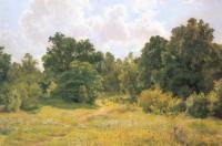 Опушка лиственного леса. Этюд. 1895
