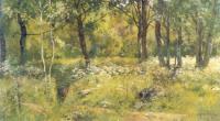Лесная поляна.Этюд.Начало 1890-х.