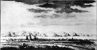 Вид города Нерчинска. Гравюра М. И. Махаева